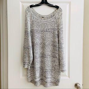 Free People Oversized Grey Tunic Sweater L